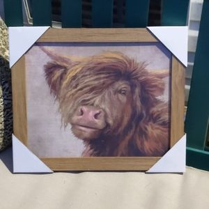 Cute Highland Cow Framed Picture